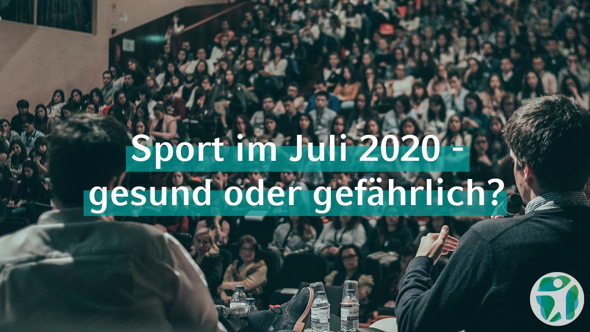 SMHS Talks: Sport im Juli 2020, gesund oder gefährlich?